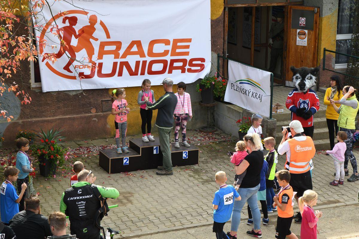 Běžecký terénní závod přes překážky pro děti Race for Juniors Rokycany z