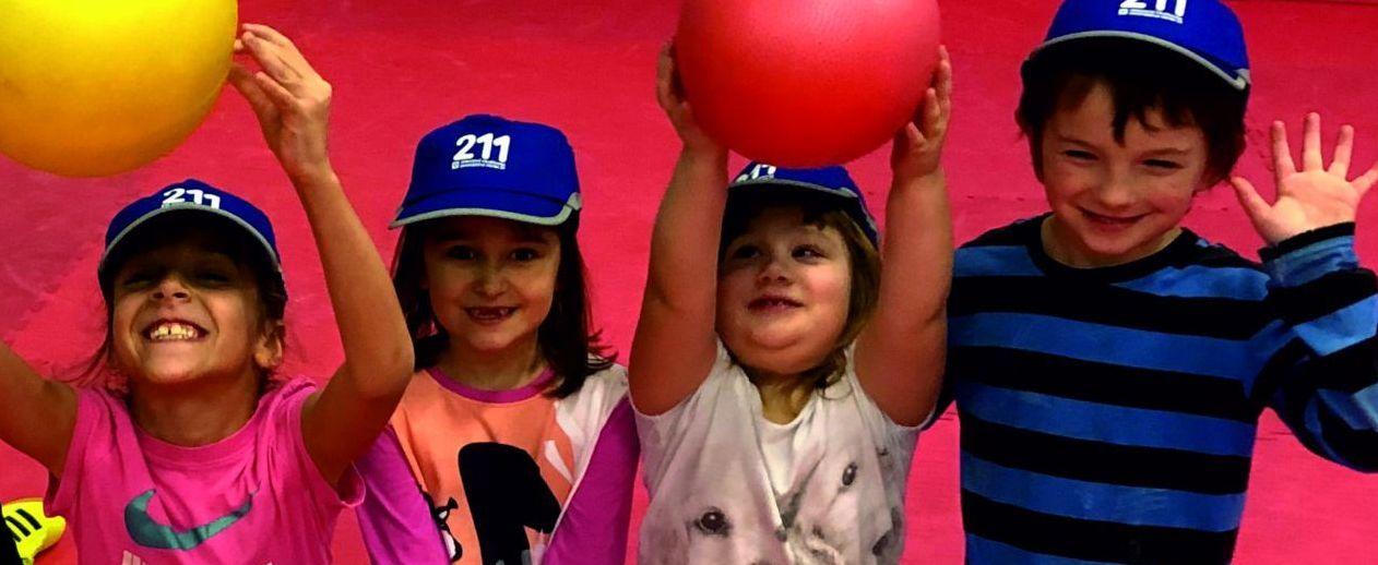 Pojišťovna 211 - cvičení dětí v Move Fit - -příprava na závody Race for Juniors